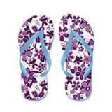 Purple Ninja Flowers! Flip Flops