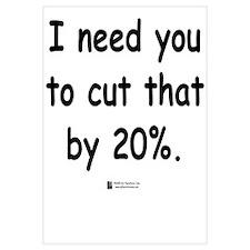 Cut by 20%