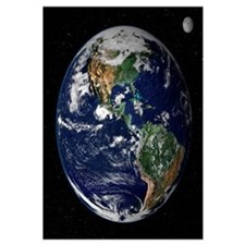 "23""x23"" Earth From Space Real Quality"