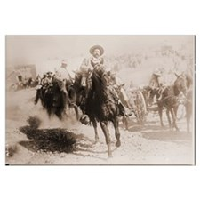 Pancho Villa Leading Battle Print