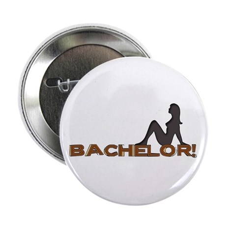 Bachelor Female Silhouette Button
