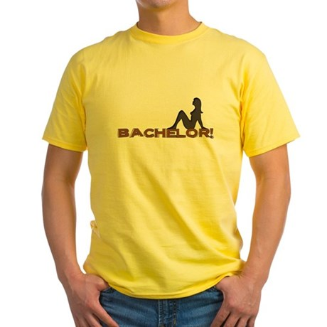Bachelor Female Silhouette Yellow T-Shirt