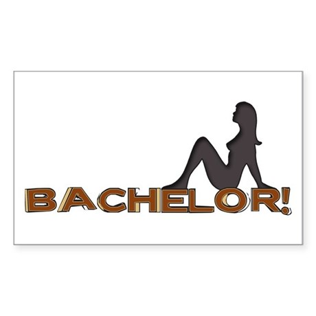 Bachelor Female Silhouette Rectangle Sticker
