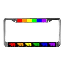 Rainbow Bearline License Plate Frame