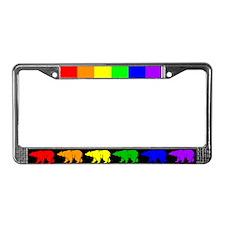 Rainbow Bearline License Plate Frame