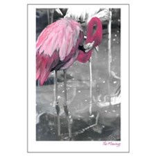Hand Painted Pink Flamingo