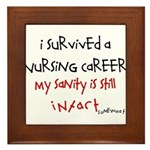 Retired Nurse Framed Tile