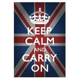 Cute Keep calm and carry on Wall Art