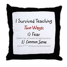 Retired Teacher IV Throw Pillow