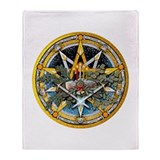 Yule Pentacle Throw Blanket