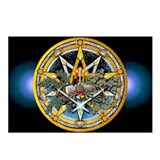 Yule Pentacle Postcards (Package of 8)