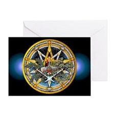 Yule Pentacle Greeting Card