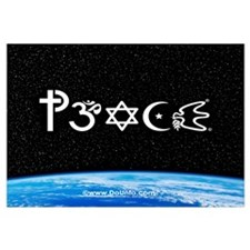 Peace-OM on earth at nite