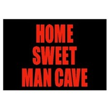 Home Sweet Man Cave RED