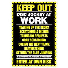 Disc Jockey At Work
