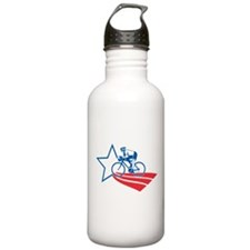 Cyclist cycling racing Water Bottle