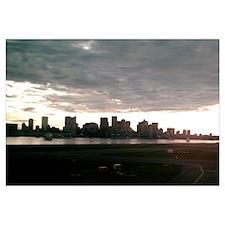 Boston Skyline from Airport