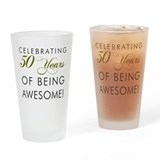 50th birthday glass Pint Glasses