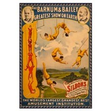 BARNUM AND BAILEY ACROBAT 16x20