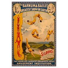 BARNUM AND BAILEY ACROBAT 16x20