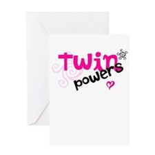 Twin Powers Greeting Card