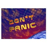 3D Don't Panic Hitchhikers Space