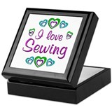 I Love Sewing Keepsake Box