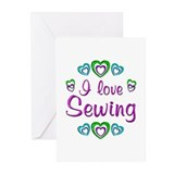 I Love Sewing Greeting Cards (Pk of 10)