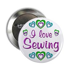 "I Love Sewing 2.25"" Button"