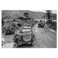 US Jeeps in the Mud During the Korean War