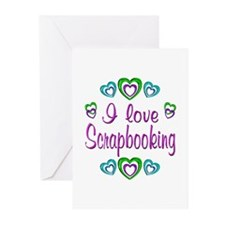 I Love Scrapbooking Greeting Cards (Pk of 10)
