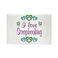 I Love Scrapbooking Rectangle Magnet (100 pack)