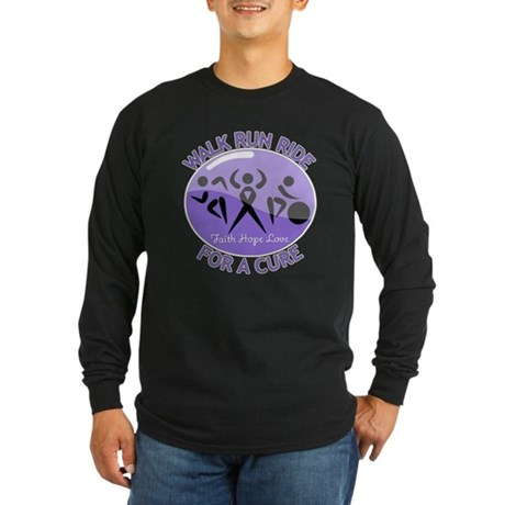 Hodgkins Lymphoma Walk Run Long Sleeve Dark T-Shir