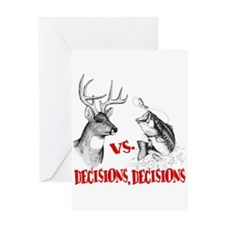 Hunting vs fishing Greeting Card