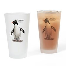 Southern Rockhopper Penguin Drinking Glass