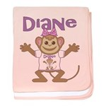 Little Monkey Diane baby blanket