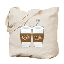Castle Morning Coffee Tote Bag