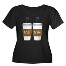 Castle Morning Coffee Women's Plus Size Scoop Neck