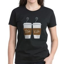 Castle Morning Coffee Women's Dark T-Shirt