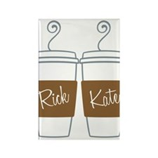 Castle Morning Coffee Rectangle Magnet