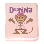 Little Monkey Donna baby blanket