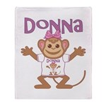 Little Monkey Donna Throw Blanket