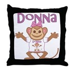 Little Monkey Donna Throw Pillow