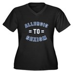 Allergic to Sexism Women's Plus Size V-Neck Dark T