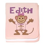 Little Monkey Edith baby blanket