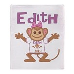 Little Monkey Edith Throw Blanket