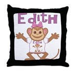 Little Monkey Edith Throw Pillow