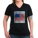 FADED GLORY™ Women's V-Neck Dark T-Shirt