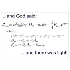 God said, let there be light!