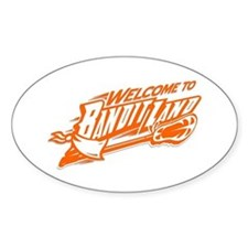 Welcome to Bandit Land! Oval Decal